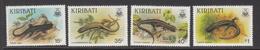 1987 Kiribati Lizards Reptiles Complete Set Of 4 MNH - Kiribati (1979-...)