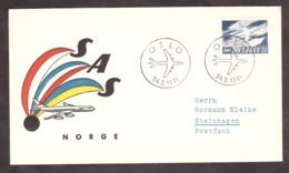 Norvège - 1961 - Enveloppe Commémorative - 10 Ans SAS - Norway