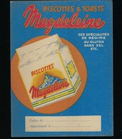 Protege Cahier Illustré  Biscottes & Toasts Magdeleine  Mont St Michel - Biscottes