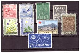ISLANDA - INSIEME DI FRANCOBOLLI ANNI '50 E '60. - MNH** - Altri