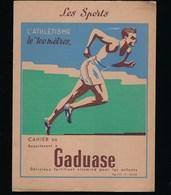 Protege Cahier Illustré  Les Sports L'Athlètisme Le 100 Mètres  Gaduase Fortifiant Vitaminé - Sports