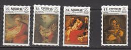 1989 Kiribati Christmas Noel Complete Set Of 4 MNH - Kiribati (1979-...)