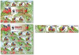 Vanuatu 2011, WWF Parrots, 4val+2sheetlet - Vanuatu (1980-...)