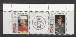 1991 Kiribati  QEII Philip Birthday Complete Set Of 2 MNH - Kiribati (1979-...)