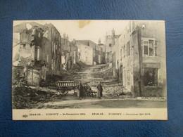 CPA WW1 GUERRE DE 1914-15 NOMENY 54  24 DECEMBRE 1914 MAISONS BOMBARDEES - Guerre 1914-18
