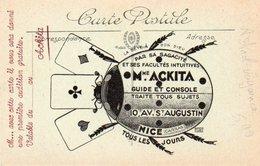 86Dm  Astrologie Voyance Mme Ackita 10 Av St Augustin à Nice Pub 1ere Audition Gratuite Coccinelle - Astronomy