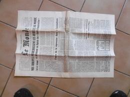 Journal Le Monde 24 Août 1955 - Maroc, Algérie,nantes Chantiers Navals, Charles Chézeau Est Mort - Non Classificati