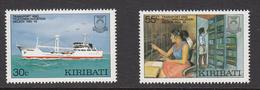 1987 Kiribati Telecom Decade Ships  Complete Set Of 2 MNH - Kiribati (1979-...)
