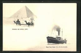 AK Nippon Yusen Kaisha Passagierschiff SS Inaba-Maru, Sphinx Und Pyramiden In Ägypten - Dampfer
