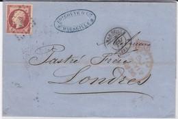 LSC - N°17 OBL. MARSEILLE / 8 MAI 56 - Marcophilie (Lettres)