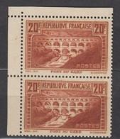 Paire N262** IIA/IIB Coin De Feuille - Luxe- Signé Calves Et Roumet Cote 1400€ - Nuovi