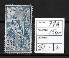 1900 UPU 25 JAHRE WELTPOSTVEREIN → SBK-79A** - Neufs