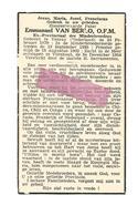 P 734. E. Pater  EMMANUEL VAN BERLO, O.F.M. - Ex.-Provinciaal Minderbroeders - °VENRAY (Nl) 1879 / +TURNHOUT 1954 - Imágenes Religiosas