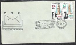 Chess, Mexico 17.08.1980, Special Cancel On Envelope For Opening Day Of Event (not FDC For Stamps) - Schaken