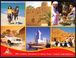 United Arab Emirates / 1001 Arabian Adventures / Sand, Horse, Palace, Rally Car, Ship, Music - Emirats Arabes Unis