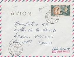 Enveloppe Avec Oblitération De Segou (Soudan Français) Sur Timbre Du Mali (16-06-1960) - Soudan (1954-...)