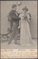 Temps De Fleurs, Liebeswerben, Wooing, 1905 - Finkenrath & Grasnick Postcard - Couples