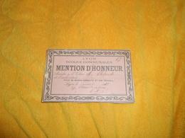 MENTION D'HONNEUR ANCIEN DE 1912. / LYON ECOLES COMMUNALES.. - Diploma & School Reports