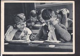 Postkarte Schule , Klassenzimmer 1939 - Schulen