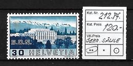 1938 BILDER DER VÖLKERBUNDS- UND ARBEITSAMTSGEBÄUDE → Gebrochene Säule ►SBK-212.Pf.◄ - Gebraucht