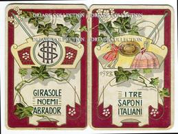 CALENDARIETTO PUBBLICITà I TRE SAPONI ITALIANI GIRASOLE NOEMI ABRADOR ANNO 1922 GENOVA TORINO - Calendari