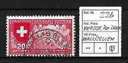 1939 ERÖFFNUNG DER LANDESAUSSTELLUNG → Verschobenr Rotdruck ►Stemoel Wallisellen◄ - Gebraucht