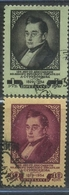 USSR 1954 Michel 1692C-1693C Perf. 12 1/2:12 125th Death Anniversary Of A.S.Griboedov Used - 1923-1991 URSS