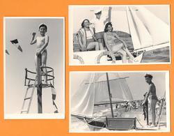 Femmes  Jeune Homme Et Garçon En Maillot De Bain 3 PHOTO - 1957 - Persone Anonimi
