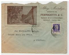 Busta Albergo Montallegro Condotto Da Pernigotti & C. - Santuario N.S. Di Montallegro - Rapallo - 1900-44 Vittorio Emanuele III