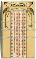 CALENDARIETTO OLEOBLITZ SOCIETà LUBRIFICANTI E. REINACH & C. MILANO ANNO 1910 1911 - Calendari