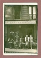 PARIS 11e - CARTE PHOTO - CAFE A LA TARTINE - 55 RUE RICHARD LENOIR - LOCALISATION GARANTIE - Distretto: 11