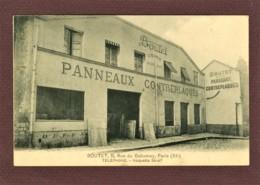 PARIS 11e - Ets BOUTET PANNEAUX CONTREPLAQUES - 8 RUE DU DAHOMEY - CARTE PAS COURANTE - District 11