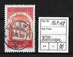 1924  50 JAHRE WELTPOSTVEREIN → SBK-167 AI   ►Stempel Birrwyl◄ - Gebraucht
