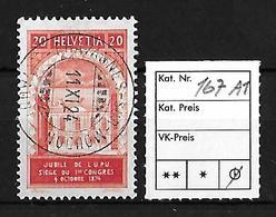 1924  50 JAHRE WELTPOSTVEREIN → SBK-167 AI   ►Stempel Chavannes-sur-Moudon◄ - Gebraucht