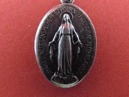 """Médaille Religieuse 1830  """"O Marie Conçue Sans Péché, Priez Pour Nous Qui Avons Recours à Vous"""" - ARGENT ? - Religion & Esotericism"""