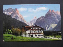 AK SEXTEN Posthotel Fischleintal Dolomiten Ca.1910  //  D*34840 - Italien