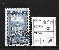 1924  50 JAHRE WELTPOSTVEREIN → SBK-168 AI   ►Stempel Basel◄ - Gebraucht