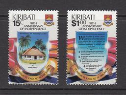 1989 Kiribati Independence Constitution    Complete Set Of 2 MNH - Kiribati (1979-...)