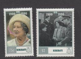 1990 Kiribati Queen Mother   Complete Set Of 2 MNH - Kiribati (1979-...)