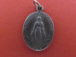 """Médaille Religieuse A Identifié ! """"O Marie Conçue Sans Péché, Priez Pour Nous Qui Avons Recours à Vous"""" - ARGENT - Religion & Esotérisme"""