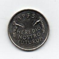 Svizzera - 1975 - 5 Franchi Commemorativi - HEREDIO NOSTRO FUTURUM - (MW1779) - Svizzera