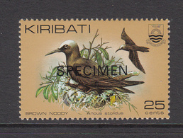 "1983 Kiribati 25c Noddies Birds ""SPECIMEN"" Late Issue  Complete Set Of 1 MNH - Kiribati (1979-...)"