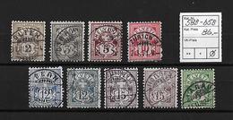 1894 - 1899  ZIFFERMUSTER Faserpapier KZ Form B → SBK-58B -65B - 1882-1906 Armoiries, Helvetia Debout & UPU