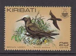1983 Kiribati 25c Noddies Birds  Late Issue  Complete Set Of 1 MNH - Kiribati (1979-...)