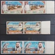 HX35 - Abu Dhabi 1968 SG 49/51 Complete Set 3v. MNH - Progress In Abu Dhabi, Shaikh Zaid - PAIR - Abu Dhabi