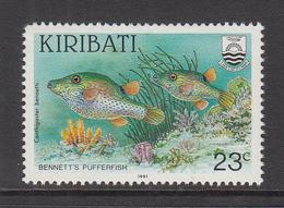 "1991 Kiribati 23c Fish Poisson  ""DIFFICULT"" Rate Change  Late Issue  Complete Set Of 1 MNH - Kiribati (1979-...)"