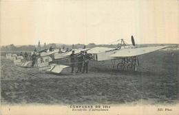 MILITARIA   Guerre 1914.18  Escadrille D'aéroplanes   2scans - 1914-18
