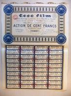 1933 Action 100 Fr ECCE FILM - Société De Production De Cinéma - Cinéma & Théatre
