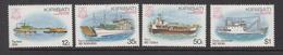 1984 Kiribati Local Ships Complete Set Of 4 MNH - Kiribati (1979-...)
