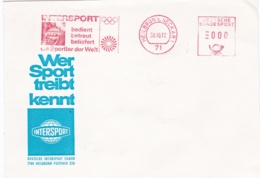 Germany Cover With Machine Cancel Heilbronn 1972 München Olympic Rings 1972 Intersport (G95-34) - Sommer 1972: München
